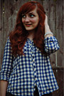 Navy-gingham-ruche-top-dark-gray-charlotte-russe-jeans