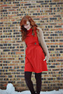 Black-diamond-pattern-walgreens-tights-burnt-orange-modcloth-dress