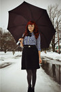 Gray-walgreens-tights-black-wool-vintage-skirt-black-vintage-belt