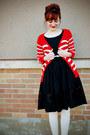 Black-oxfords-afrodita-shoes-black-floral-cutout-vintage-dress