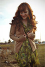 Camel-merona-tights-olive-green-modcloth-dress-bronze-thrifted-belt