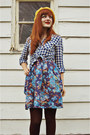 Navy-floral-charlotte-russe-dress-bronze-oxford-modcloth-boots