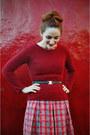 Black-oxford-charlotte-russe-shoes-red-plaid-vintage-dress