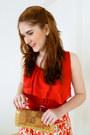 Red-belt-camel-angela-gutierrez-purse-red-forever-21-top-cream-qupid-heels