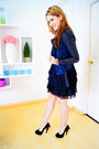 Black-kaelyn-max-dress-navy-forever-21-jacket-black-unique-heel-posh-heels