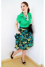 Black-clutch-asos-bag-chartreuse-collar-shirt-antelle-femme-top