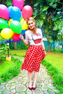 White-forever21-shirt-red-gingham-skirt-asos-skirt