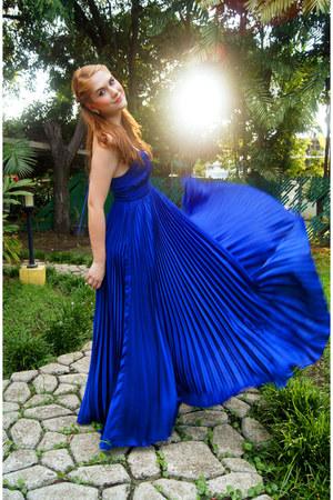 blue pleated dress asos dress