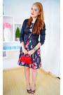 Black-floral-dress-kocal-dress-black-satin-odds-n-evens-blazer