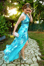Silver-purse-turquoise-blue-jeweled-collar-cachet-dress