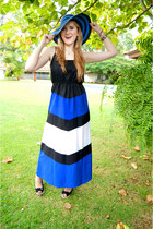 beach hat Forever 21 hat - maxi dress Charlotte Russe dress