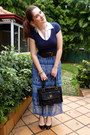 White-collar-shirt-pull-bear-top-blue-maxi-skirt-zara-shirt