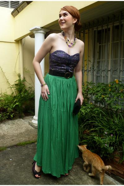 green maxi skirt zara skirts black purses black