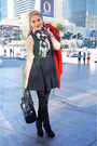 Black-forever-21-boots-black-a-line-dress-zara-dress