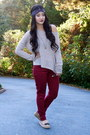 Crimson-oxblood-forever-21-pants-navy-headwrap-nordstrom-accessories