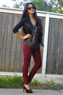 Black-forever-21-jacket-charcoal-gray-leopard-print-forever-21-blouse
