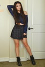 Navy-knit-forever-21-sweater-black-cotton-forever-21-skirt