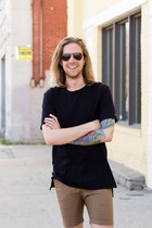 Zanerobe shirt - Zanerobe shorts - ray-ban sunglasses - Birkenstock sandals