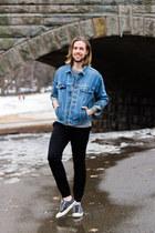 Levis jacket - Shop Local Kentucky sweatshirt - Zanerobe pants