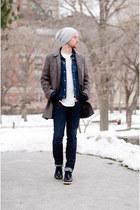 Billy Reid jacket - Big star jacket - dr scholls boots - DSTLD jeans