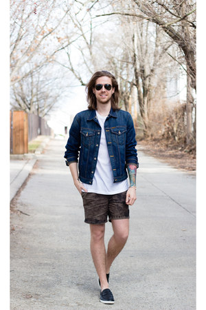 Giles & Brother bracelet - Cole Haan shoes - Big star jacket - RVCA shorts