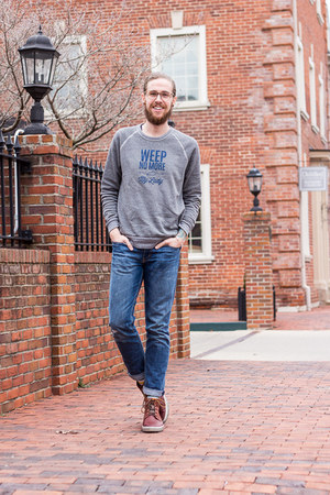 ecco shoes - Levis jeans - Shop Local Kentucky sweatshirt