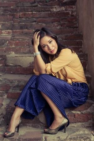 American Apparel skirt - Forever 21 blouse - Michael Kors watch