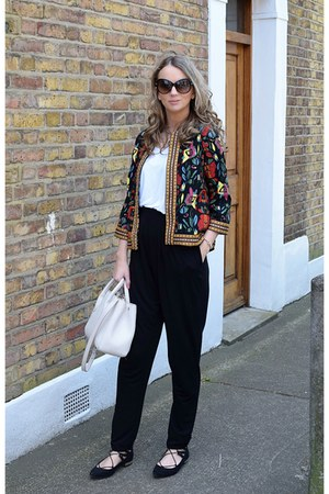 Boohoo jacket - Zara bag - asos pants - new look flats