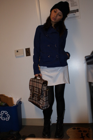 H&M jacket - American Apparel dress - forever 21 hat - doc martens shoes - H&M t
