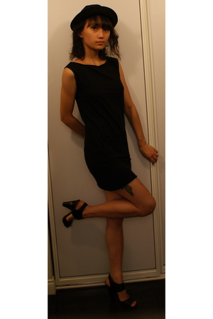 American Apparel dress - Target shoes - Target hat - Tadashi dress - H&M dress -
