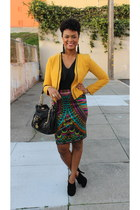 skirt - jacket - Juicy Couture bag