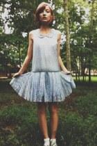 periwinkle drop-waist mesh free people dress