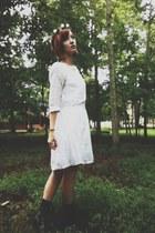JCrew dress - Target boots - DIY accessories