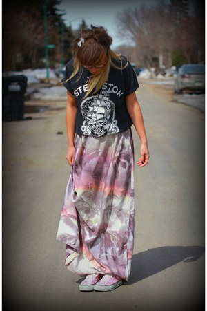 maxi ONeill dress - ship flash Steveston Tattoo t-shirt