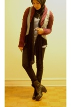 DKNY sweater - BeBop vest - Madonna for H&M pants - Urban Outfitters top - Via S