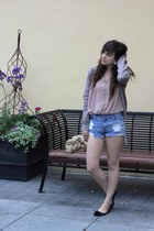isis shirt - Forever 21 shorts - papaya cardigan - New York and Company flats