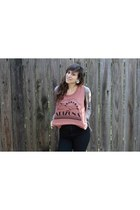 Silence & Noise shirt - American Apparel jeans - papaya cardigan