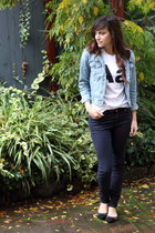 American Apparel t-shirt - Zara jeans - Forever 21 jacket