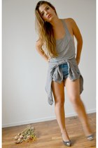 calvin klein jacket - Levis shorts