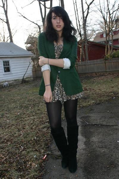 green Zara blazer