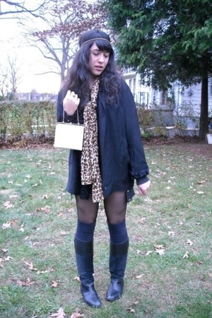vintage jacket - vintage purse - Urban Outfitters tights - random brand from Blo