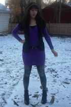 American Apparel dress - Urban Outfitters tights - payless shoes - vintage blous