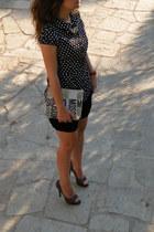asos heels - Amisu shirt - Moschino bag - Zara shorts