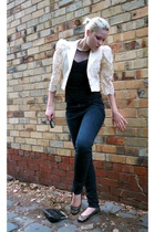 beige lace blazer vintage blazer - black cheap monday Cheap Monday jeans