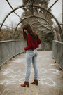 Brown-free-people-boots-light-blue-redone-jeans