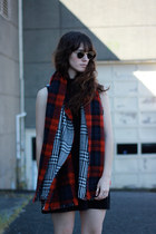 black Circus by Sam Edelman boots - black Zara dress - camel Blq Basiq coat