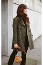 Army-green-marks-spencer-coat-black-marks-spencer-top