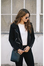 Black-azalea-coat-black-frame-jeans-white-reformation-t-shirt