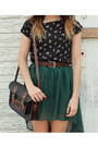 Black-leather-bag-black-top-dark-brown-vintage-belt