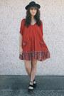 Red-free-people-dress-black-free-people-clogs